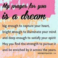 dream quotes, prayer quotes, my