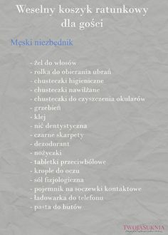 weselny koszyk ratunkowy dla gości Wedding To Do List, Wedding Tips, Boho Wedding, Wedding Styles, Wedding Planning, Dream Wedding, Wedding Day, Space Wedding, Wedding Table