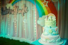 Hot Air Balloon, Fondant, Party Themes, Balloons, Birthday Cake, Rainbow, Clouds, Rain Bow, Globes