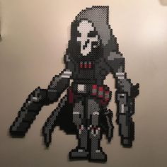 Made #reaper from #overwatch out of #perlerbeads for masters birthday!! ^_^ the…