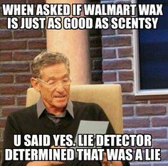 Walmart wax ewww! Lol!