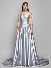 Formal Evening Dress - A-line V-neck Sweep/Brus... – USD $ 129.99
