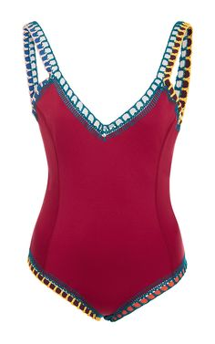 9170c4716c5dd Shop Soley One Piece Swimsuit. Known for their magical swimwear, **Kiini**  has rendered this one piece in their signature, multicolor crochet trim.