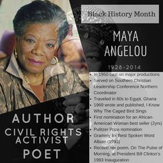 One of my favorite poets and authors is this beautiful woman Maya Angelou. After moving away from home to San Francisco on a scholarship for dance and acting Angelou found herself giving birth at 16 and marrying a greek sailor its where she got her name Angelou(short for Angelopulos). She would begin her acting and singer career landing roles on major productions and working with top entertainers. She would move away to visit Africa for a few years and came back to publish her international…