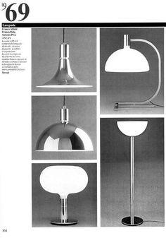 Franco Albini, Franca Helg, Antonio Piva, lamp series AM/AS for Sirrah, 1969. Via @Fondaz_Albini