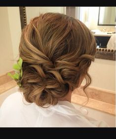 Messy up do for wedding