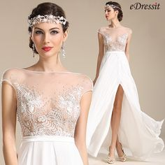 Embroidery accent can add a delicate and chic touch. What we provide you is not only high quality but also affordable prices. Just take action and get your favorite embroidery wedding dresses here. Breathtaking! Everyone will be stunned once you step...