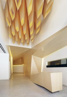 Lightfold,  lobby design for the One Kearny commercial development designed by IwamotoScott Architecture