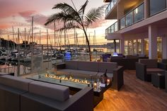 Dine outside for happy hour or have a lounge-y brunch at SALT at the Marina del Rey Hotel