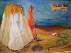 Edvard Munch 'Mädchen am Meer' (Girls on the Shore), 1904, Kunsthalle (Museum of Art), Hamburg, Germany