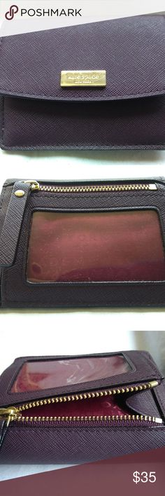a90862a5bff2e Kate Spade Petty Laurel Way mahogany mini wallet Small clutch in excellent