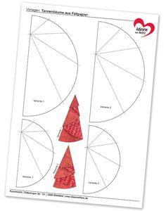 Christmas Tree Napkin Fold, Christmas Tree Template, Christmas Tree Pattern, Christmas Sewing, Christmas Cards To Make, Diy Christmas Ornaments, Christmas Projects, Christmas Crafts, Circle Crafts