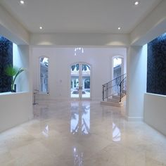 White Marble Floor Design Ideas, Pictures, Remodel, and Decor; love this, since it's simple