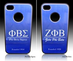 Blue Phi Love is all over these iPhone 4/4s cases! Don't forget to pick one up for your favorite Sister or Brother of Zeta Phi Beta Sigma! #Sigma #Zeta #Iphone #BlueWhite #Gift www.4yougifts.com
