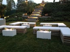Casual seating area for a cocktail reception