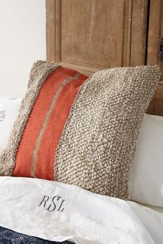 Soft & plush looms of natural wool, our Berber Stripe Euro Sham adds an unexpected textural touch to any bedding ensemble. A bold pop of color makes the design cheerful with a nod to traditional Berber carpet.