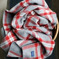 Soho Wool Throw, Faribault Woolen Mill Co. Alpaca Blanket, Wool Blanket, Woolen Mills, Cozy Blankets, Red And Grey, Gray, Tartan Plaid, White Plaid, Soho