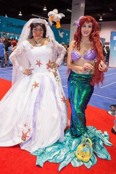 The Little Mermaid Cosplay| Ariel and Vanessa