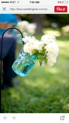 Using the teal glass for center pieces