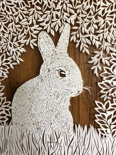 Bunny under cover, x hand cut paper, by DawningDesigns Papercut Art, Cut Out Art, Cut Animals, Paper Cut Design, Paper Cutting, Cut Paper, Paper Lace, Art N Craft, Silhouette Art