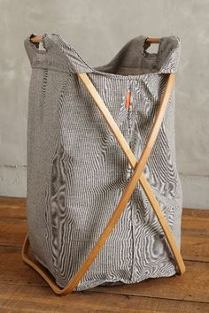 Tall Cross-Fold Laundry Basket - anthropologie.com