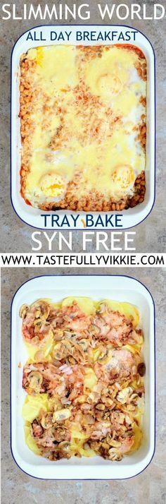 Slimming World Syn Free All Day Breakfast Tray Bake - Tastefully Vikkie