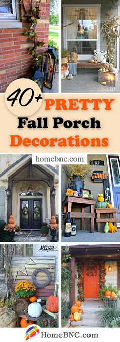 Fall Porch Decorations Porch Decorating, Decorating Ideas, Fall Crafts, Cool Designs, Outdoor Decorations, Patio, Make It Yourself, Creative, Diy