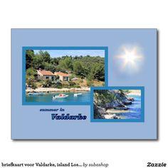 briefkaart voor Valdarke, island Losinj, Kroatië