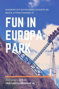 Europapark is misschien wel het leukste attractiepark van Europa! Leukste attractie van Duitsland. Of je nou van achtbanen houdt of juist een pretpark bezoekt met kleine kinderen: hier is voor iedere leeftijd wat te doen. De hotels, het eten, de shows, de attracties: ALLES is leuk! Tips en ervaringen voor je bezoek. Resorts, Places, Travel, Viajes, Vacation Resorts, Destinations, Beach Resorts, Traveling, Trips