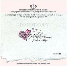 Love heart logo premade logo custom love logo sketch by helloaimi