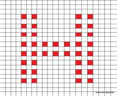 Swirls and Sprinkles: free crochet letter H square/block pattern
