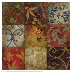 Floral Mosaic VBy John Douglas Floral Mosaic VBy John Douglas Art Print: Floral Mosaic Wall Art by John Douglas by John Douglas : Ceramic Tile Art, Porcelain Tiles, Paisley Art, Mosaic Wall Art, Mosaic Tiles, Handmade Tiles, Handmade Ceramic, Floral Wall Art, Decoupage Paper