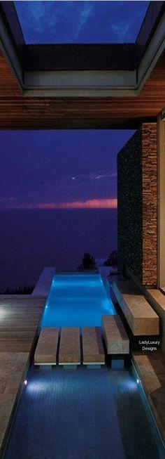 Luxurious pool with Ocean View-   LadyLuxuryDesigns