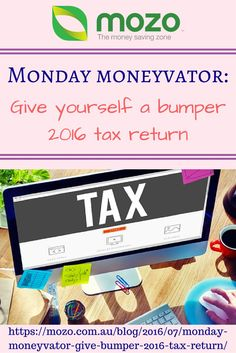 Monday Moneyvator: Give yourself a bumper tax return! Here are 8 things you might be able to claim. mozo.com.au/...