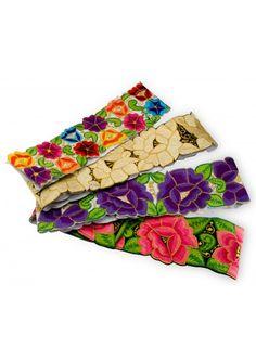 Orgullo mexicano: hand embroidered belt.