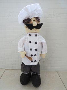 Cozinheiro ou Chef boneco de pano