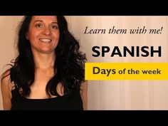 Learn the days of the week in Spanish