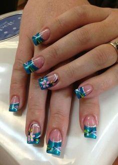 ideas nails shellac ideas spring simple for 2019 Classy Nails, Stylish Nails, Trendy Nails, Nail Art Designs, Fingernail Designs, Ongles Bling Bling, Bling Nails, Hawaiian Nails, Pedicure Nail Art