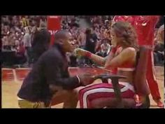 You've seen proposals during games before, but probably never to a cheerleader.   Chicago Bulls Cheerleader Surprised With Proposal In The Middle Of Her Performance