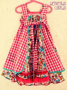 cute back detail......FeliZ Kleid Schnittmuster Mädchen nähen farbenmix