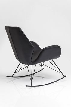 Rocking armchair with armrests FLORIDA BLACK by @karedesign