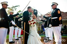 sword arch, Marine Corps Wedding | Broccardo Photography, Orange County Wedding Photographer