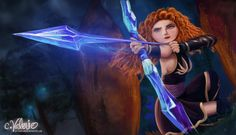 Merida deviantAR | Merida the Frost Archer by MochisSketchbook
