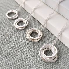 Interlinked Rings Necklace