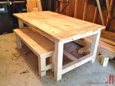 How To Make Farmhouse Benches