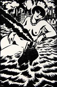 "Frans Masereel - illustration for ""Easter in New York,"" 1926"