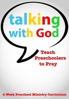 Teach preschoolers to pray with this fun new curriculum. These Talking With God Preschool Church Curriculum lessons are perfect for Sunday School or Children's Church. Preschool Sunday School Lessons, Sunday School Curriculum, Preschool Bible Lessons, Bible Lessons For Kids, Preschool Curriculum, Sunday School Crafts, Homeschooling, Preschool Learning, Learning Activities