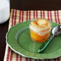 Perfect Portion Desserts: Peach Cobbler Baked in a Mason Jar