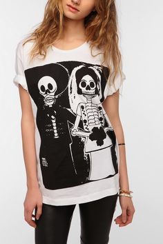 LEAF Death Marriage Oversized Tee #urbanoutfitters