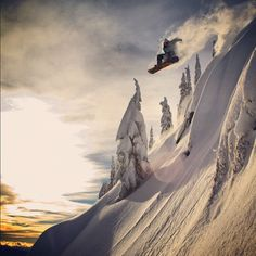 Travis Rice launching into the beyond  #snow    MUST GO #SNOWBOARDING.